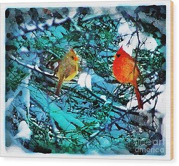 Winter Love Wood Print