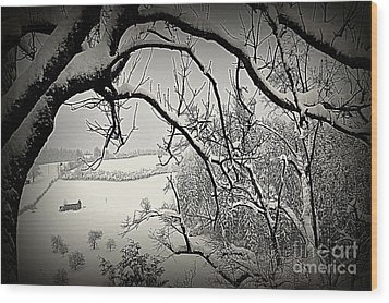 Wood Print featuring the photograph Winter Scene In Switzerland by Susanne Van Hulst