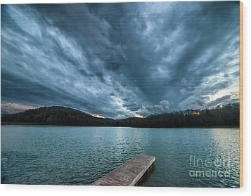 Wood Print featuring the photograph Winter Storm Clouds by Thomas R Fletcher