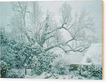 Wood Print featuring the photograph Winter Wonderland In Switzerland by Susanne Van Hulst