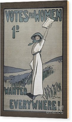 Womens Rights Wood Print by Granger