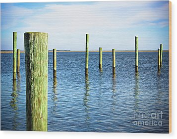Wood Print featuring the photograph Wood Pilings by Colleen Kammerer