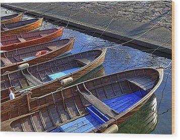 Wooden Boats Wood Print by Joana Kruse