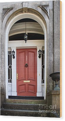 Wooden Door Savannah Wood Print by Thomas Marchessault