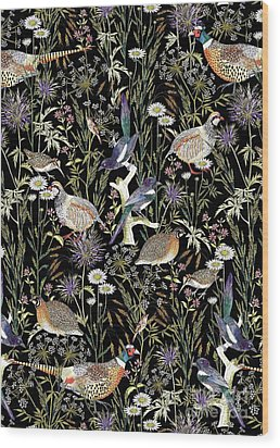 Woodland Edge Birds Wood Print