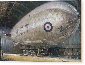 World War I: Airship Wood Print by Granger