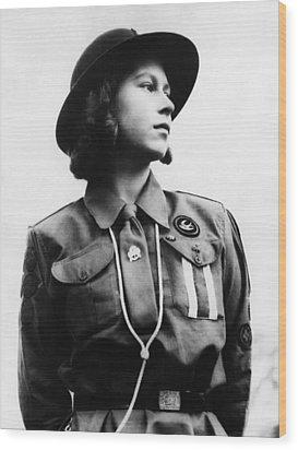 World War II. Future Queen Of England Wood Print by Everett
