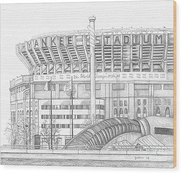 Yankee Stadium Wood Print by Juliana Dube