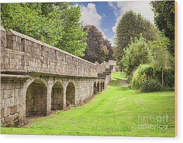Wood Print featuring the photograph York City Walls, England by Colin and Linda McKie