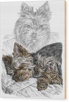 Yorkie - Yorkshire Terrier Dog Print Wood Print by Kelli Swan