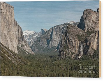Wood Print featuring the photograph Yosemite Valley Afternoon by Sandra Bronstein