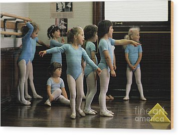 Young Ballet Dancers  Wood Print