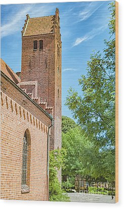 Wood Print featuring the photograph Ystad Monastery In Sweden by Antony McAulay