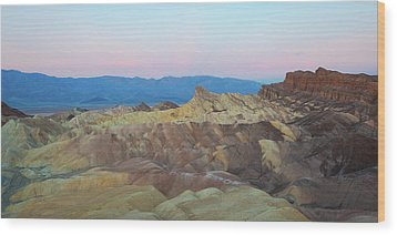 Wood Print featuring the photograph Zabriskie Point by Catherine Lau