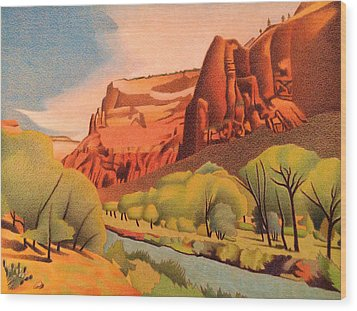 Zion Canyon Wood Print by Dan Miller