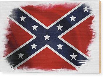 Confederate Flag Wood Print