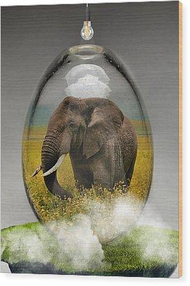 Elephant Art Wood Print