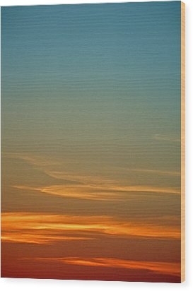 Huron Skies Wood Print