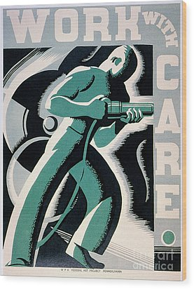 New Deal: Wpa Poster Wood Print by Granger