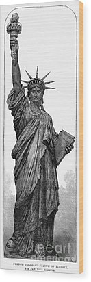 Statue Of Liberty Wood Print by Granger