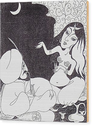 1001 Nights - Sheherazade Wood Print by Rae Chichilnitsky