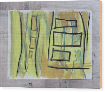 Wood Print featuring the pastel 1016 by Stefan Hermannsson