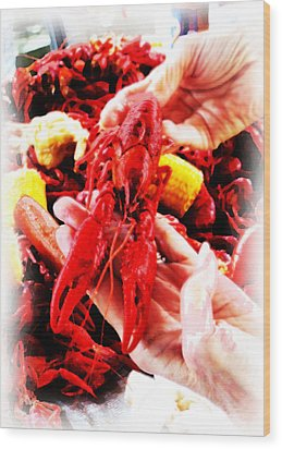 102715 Louisiana Lobster Wood Print