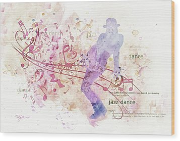 10849 All That Jazz Wood Print by Pamela Williams