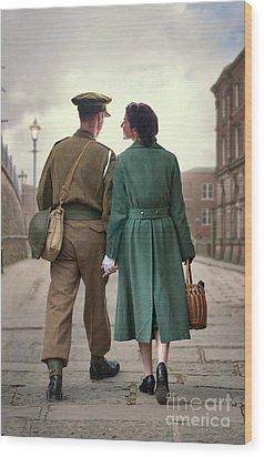 1940s Couple Wood Print