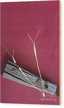 Wood Print featuring the sculpture 11 O by Viktor Savchenko