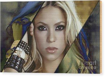 Shakira Collection Wood Print