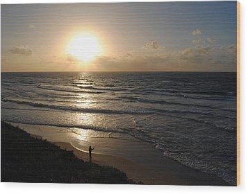 Sunset At Jaffa Beach 5 Wood Print by Isam Awad
