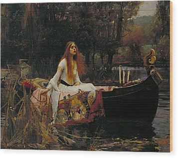The Lady Of Shalott Wood Print