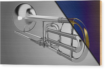 Trombone Collection Wood Print