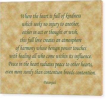 11- Where The Heart Is Full Wood Print