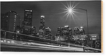 Wood Print featuring the photograph 110 Freeway Los Angeles by April Reppucci