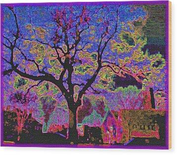 113z  Gothic  Blue Wood Print by Ed Immar
