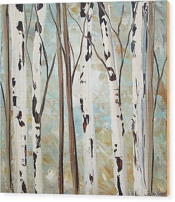 Abstract Landscape Wood Print by Jolina Anthony
