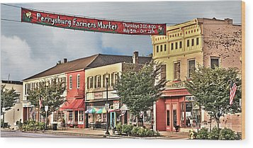 Downtown Perrysburg Wood Print