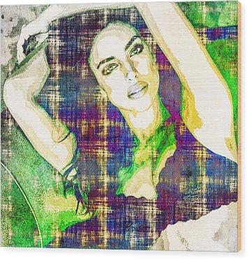 Irina Shayk Wood Print by Svelby Art