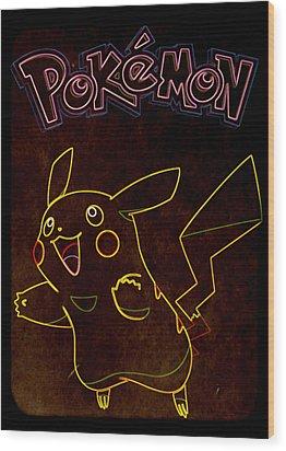 Pokemon - Pikachu Wood Print by Kyle West