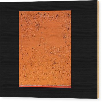 Orange No.11 16 X 20 2010 Wood Print