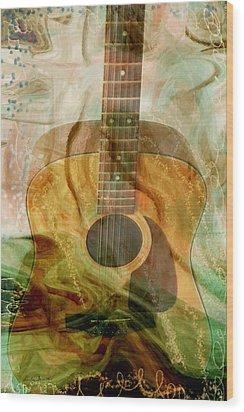 12 String Wood Print by Linda Sannuti