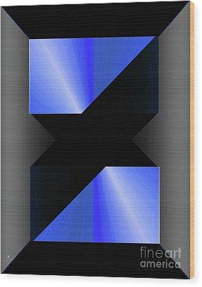 Wood Print featuring the digital art 1204-2017 by John Krakora