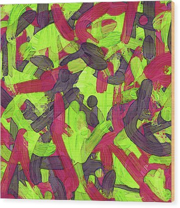 Puzzle Soup Wood Print