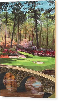 12th Hole At Augusta Ver Wood Print