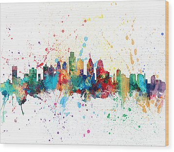Philadelphia Pennsylvania Skyline Wood Print