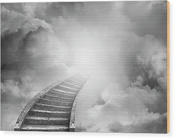 Wood Print featuring the photograph Stairway To Heaven by Les Cunliffe