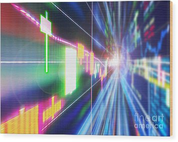 Wood Print featuring the photograph Stock Market Concept by Setsiri Silapasuwanchai