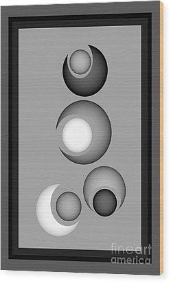 Wood Print featuring the digital art 1320-2017 by John Krakora